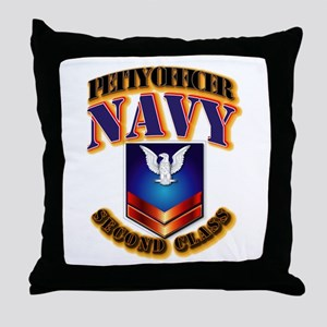 NAVY - PO2 Throw Pillow
