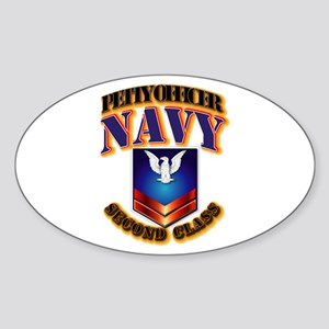 NAVY - PO2 Sticker (Oval)