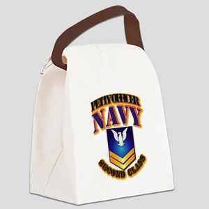 NAVY - PO2 - Gold Canvas Lunch Bag