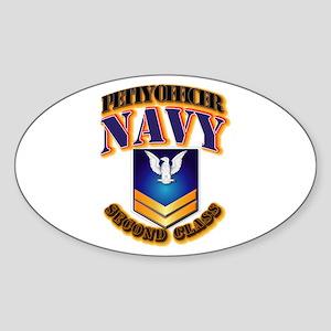 NAVY - PO2 - Gold Sticker (Oval)
