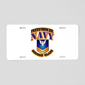 NAVY - PO2 - Gold Aluminum License Plate