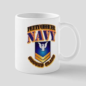 NAVY - PO2 - Gold Mug