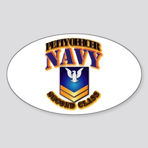 NAVY - PO2 - Gold Sticker (Oval)