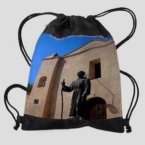 CaliforniaMission11by9 Drawstring Bag