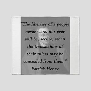 Henry - Liberties of People Throw Blanket