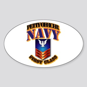 NAVY - PO1 Sticker (Oval)