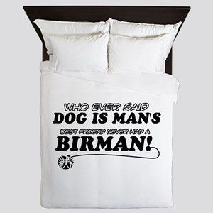 Birman Cat designs Queen Duvet