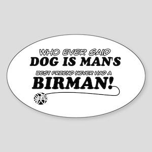 Birman Cat designs Sticker (Oval)