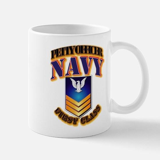 NAVY - PO1 - Gold Mug