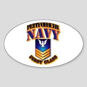 NAVY - PO1 - Gold Sticker (Oval)
