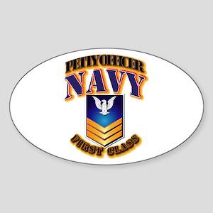 NAVY - PO1 - Gold Sticker (Oval)