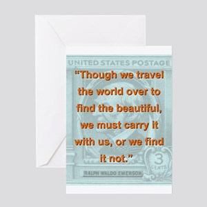Though We Travel The World Over - RW Emerson Greet