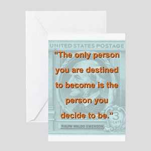 The Only Person You Are Destined To Become - RW E