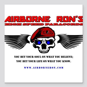Airborne Ron's High Speed Logo Gear Square Car Mag