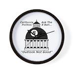 8 Ball Politics Wall Clock
