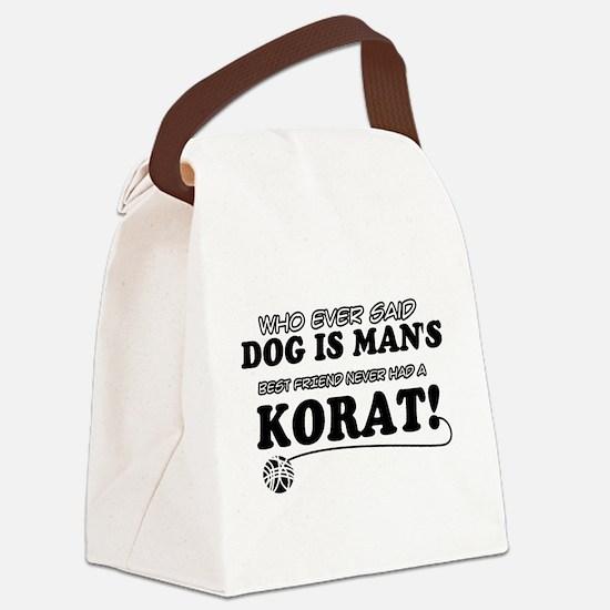 Korat Cat designs Canvas Lunch Bag