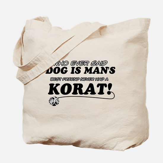 Korat Cat designs Tote Bag