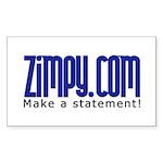 Zimpy Gear Rectangle Sticker