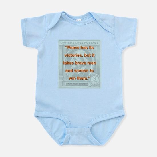 Peace Has Its Victories - RW Emerson Infant Bodysu