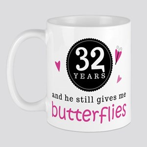 32nd Anniversary Butterflies Mug