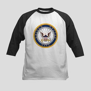 US Navy Emblem Kids Baseball Tee