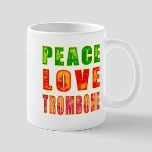 Peace Love Trombone Mug