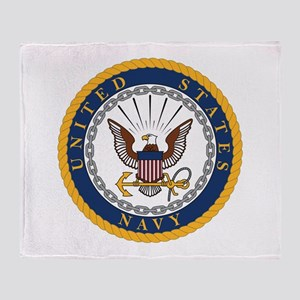 US Navy Emblem Throw Blanket