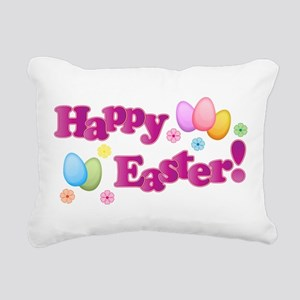 Happy Easter Bunny Rectangular Canvas Pillow