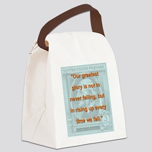 Our Greatest Glory - RW Emerson Canvas Lunch Bag