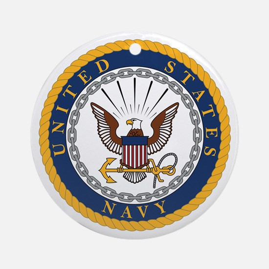 US Navy Emblem Round Ornament