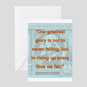 Our Greatest Glory - RW Emerson Greeting Card