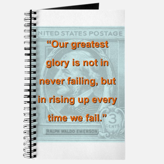 Our Greatest Glory - RW Emerson Journal