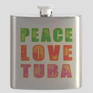 Peace Love Tuba Flask