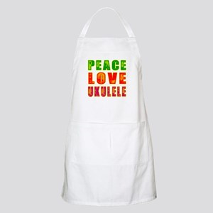Peace Love Ukulele Apron