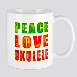 Peace Love Ukulele Mug