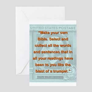 Make Your Own Bible - RW Emerson Greeting Card
