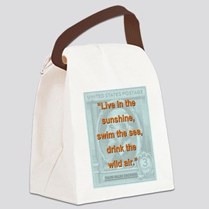 Live In The Sunshine - RW Emerson Canvas Lunch Bag