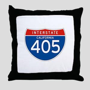 Interstate 405 - CA Throw Pillow