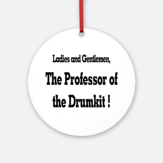 Professor of the Drumkit Ornament (Round)