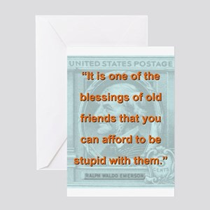 It Is One Of The Blessings - RW Emerson Greeting C