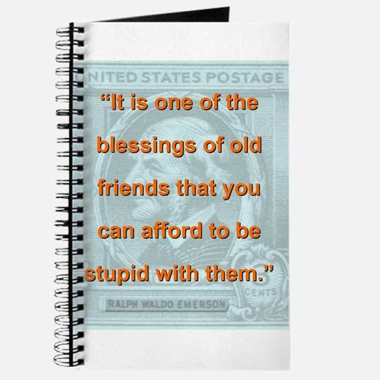 It Is One Of The Blessings - RW Emerson Journal