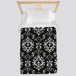 Black & Cream Damask Twin Duvet