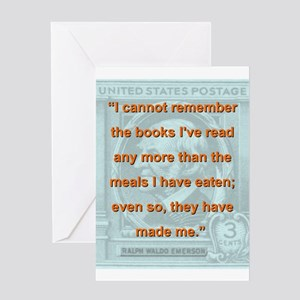 I Cannot Remember The Books Ive Read - RW Emerson