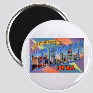Des Moines Iowa Greetings Magnet