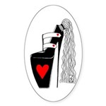 Oval Sticker - Pony Tail Pump
