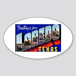 Laredo Texas Greetings Oval Sticker