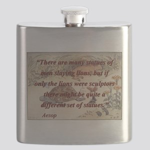 There Are Many Statues Of Men - Aesop Flask