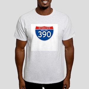 Interstate 390 - NY Ash Grey T-Shirt