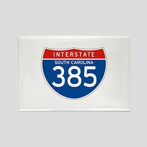 Interstate 385 - SC Rectangle Magnet