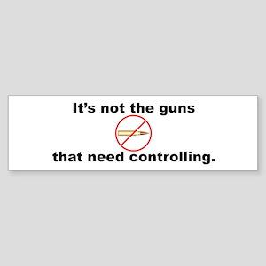 Bullet Control Bumper Sticker